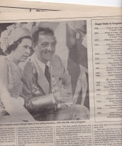 1991 Whig Standard - George Speal and Queen
