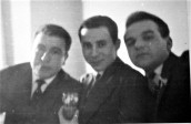Andreas with friends, Cardiff, 1963
