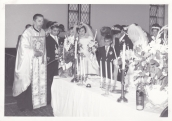 ceremony of the double wedding of Pandelis and his brother