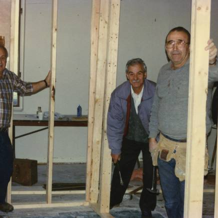 Construction of the bar at the church - pics given by Dimitri Stratis 1