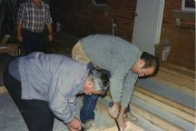 Construction of the bar at the church - pics given by Dimitri Stratis 3