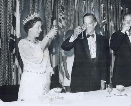 George Speal and Queen Eliz.