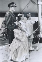 George Speal children welcoming queen