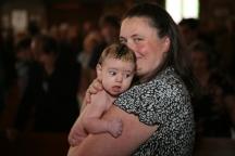 Joanna (daughter) Baptism 3 - Presvytera Dina holding Joanna