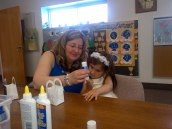 Paula teaching sunday school (juniors)
