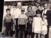 Paula's maternal grandparents (Michael and Melpomeni Tsaggaris) and Theo Dimitri and Thea Tassia Tsaggaris, their children and the Minakakis children