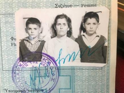 Peter's mother's passport photo