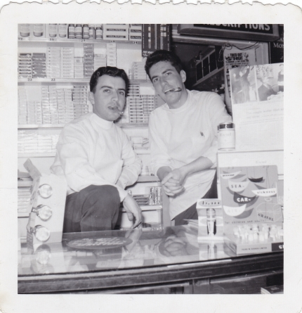 Spiro and Jim Twig - Spiro Sakell - 1956 Moffats Pharmacy - Princess and Clergy