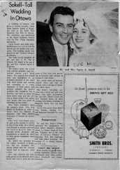 Spiro and Maureen Wedding Newspaper