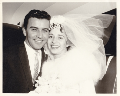 Maureen and Sprio on their wedding day
