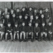 St Pauls Cub Scout 1938, Jim 3rd from left center row, Spiro 5th from L center row
