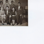 Standing l to r Jim, Katina, George, Marina, Spiro, Seated l to r Chrysanthy, Andrew, Scia, 1954