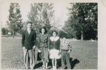 Voula's siblings (l to R Athanasios, Meropi, Voula , __
