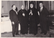 1950s Bishop and our old priest