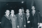 1960s AHEPA, photo includes Louis, George Karkoulis, Tom Annis, and Jim Zeikios