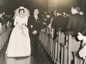 1963 Louis and Toula Wedding - at St George's - the last Greek wedding held at St. George's before the purchase of our church 3