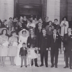 1963 Wedding - at St George's - with Eleini Zakos, Diana Karis, Maria Zakos, Toula Leos, Louis, Tom Annis, Peter Annis, George Zakios, Angie Johnson, Nikki Zakos