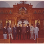1970s Church Council, Louis is second from left