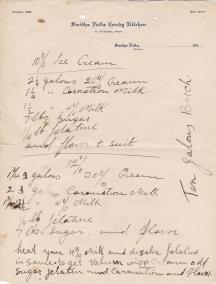 Candy Kitchen Ice cream recipe - George's grandfather's restaurant in Smith Falls