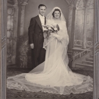 Tessie and Frank Karis wedding photo