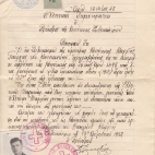 George Karis immigration document