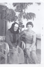 Maria and her Paternal Grandmother (Diamanto Karis), in Xylocastron, Greece
