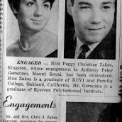 Peggy Geracimo (Zakos) Engagement