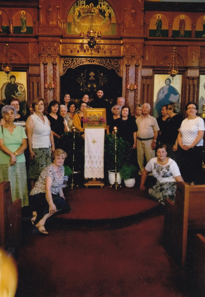 Philoptohos, Chanters, and Father Matthew Penney and Prevytera Catherine.