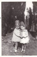 Ted and his sister Ariti as children