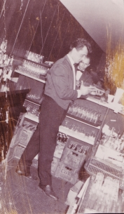 Ted as a bartender at the 'Cat's Meow'