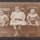 The Zakos siblings as toddlers (front)