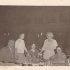 Vassili Brousalis; Nina; __; Tessie Karis; and Toula Brousalis 1962