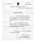 Zakos Immigration letter 1934