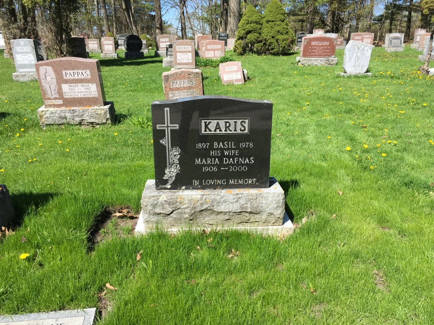 The gravestone of a late member of our community, in the Greek section of the Cataraqui Cemetery. Click on the photo to see the full album..JPG