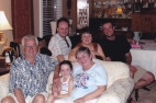 A photo of the Nikas family in 2004
