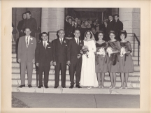 Chris and Murva's 1961 Wedding outslide of St. George's