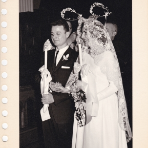 Chris and Murva's Wedding 1962 - an Orthodox service at St. George's Cathedral