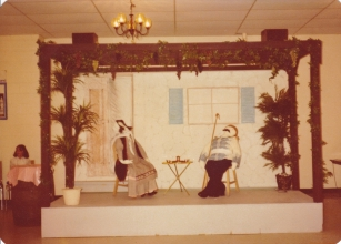 1978 Folklore - Cottage built by Steve Danill; painted by Shirley Tryfonopoulos; Mahi Karkoulis and Maria Pete made life sized dolls and dressed them.