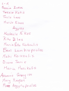 Important members of the community, most in Daughters of Penelope (Photo from Folklore 1979, donated by Murva Nikas) - NAMES