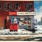 A painting of Chris and Gus's Variety Store, as painted by Bob Blenderman.