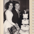 Murva and Chris's wedding, November 18, 1962
