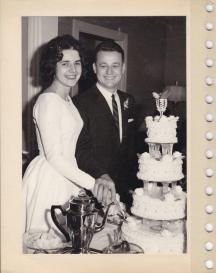 Murva and Chris's wedding, November 18, 1962