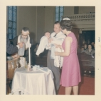 Jim's baptism at the church 1