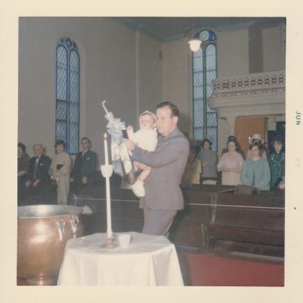 Jim's baptism at the church 2