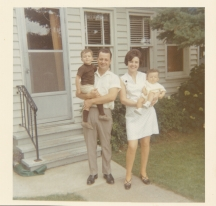 Murva and Chris with the Children, 1970 1