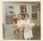 Murva and Chris with the Children, 1970