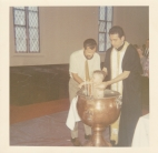 Toni's Baptism in the Church, with Fr. Polychronidis 1