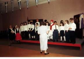 Cleo teaching Greek school (kingston)