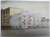 The LaSalle Hotel, painted by © Robert A. Blenderman