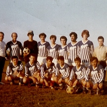 the soccer team for the Greek community circa 1972